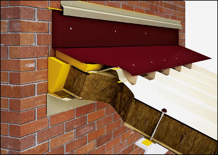 Как сделать примыкание крыши к дому 68