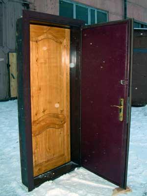 металлические двери в один