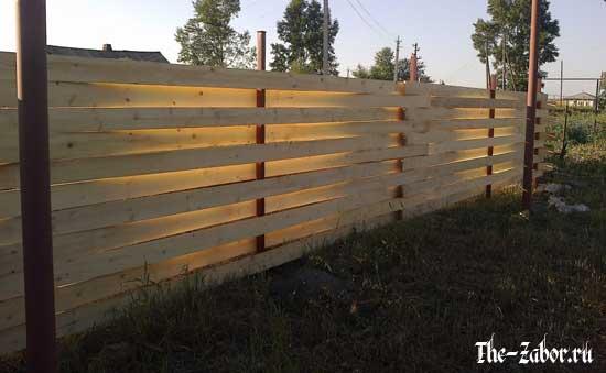 Забор своими руками из досок
