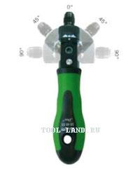 Отвертка с изменяемым углом ручки и реверсом (HAUPA)