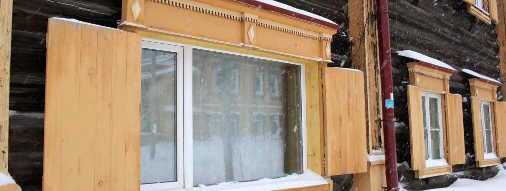 Пластиковые окна в деревянном наследии